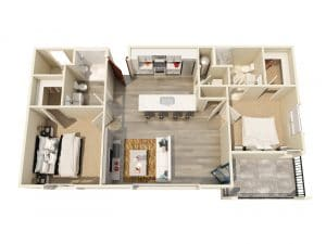 2 Bed / 2 Bath / 945 ft² / Rent: $2,115 - $2,275